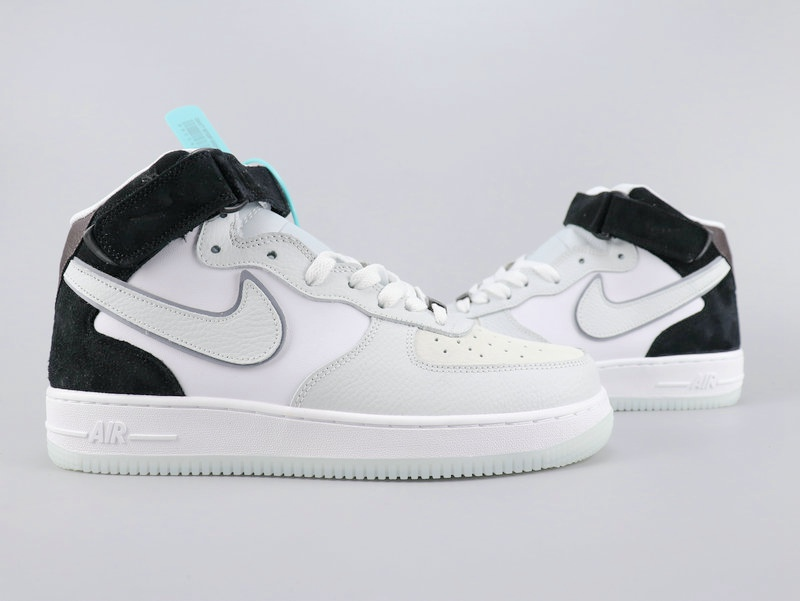 2002 Nike Air Force 1'07 White Black For Women